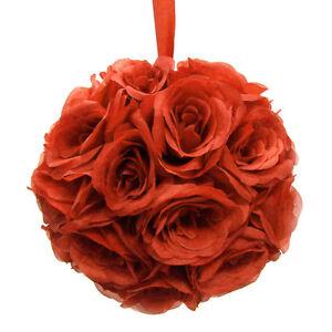 Silk Flower Kissing Balls Wedding Centerpiece, 10-inch