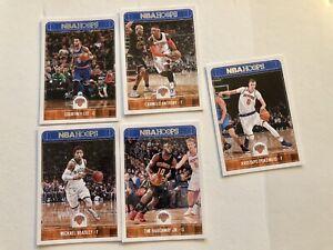Lot De 5 NBA Panini Hoops New-York Knicks
