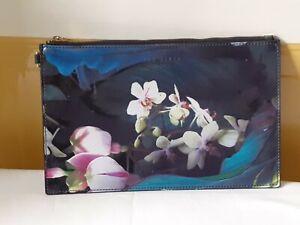 Black/Blue Floral Clutch/Handbag/Evening Bag - Ted Baker