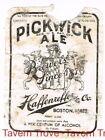 (rare 4%) 1930s U-Permit MASSACHUSETTS Boston PICKWICK ALE IRTP 12oz Label