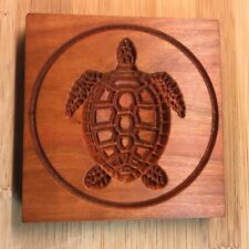 SEA TURTLE - WOOD CARVED SPRINGERLE COOKIE MOLD - HANDMADE IN USA