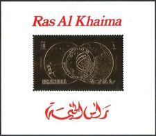 RAS AL KHAIMA or Apollo 15/Espace/Fusée/Lune/Terre/astronautes Deluxe M/S b5051