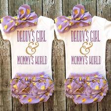 3-6M Infant Baby Girl Clothes Romper+Tutu Pants Shorts+Headband 3PCS Outfit LS06