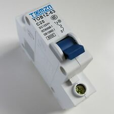 20A DC Circuit Breaker MCB Solar Fuse 125v Single Pole 1P Ebike TOB1Z-63 C20