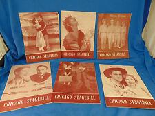 Chicago Playbills 6 Mister Roberts Inside USA Oklahoma Bridadoon Medea Finian's