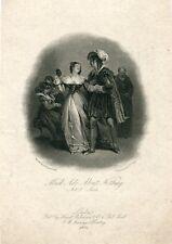 Much ado about nothing grabado por J.H. Watt de la obra de Shakespeare, 1826.