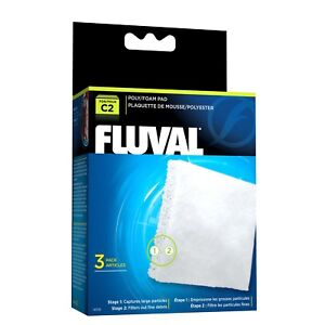 Fluval C2 Poly Foam Pad 3 Pack