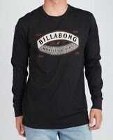 BILLABONG MENS TOP.GUARDIANT BLACK COTTON LONG SLEEVED CREW TEE T SHIRT 8W 4 19