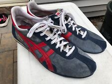 Onitsuka Tiger Vintage Running Shoes Sneakers Men's Size 11.5 D2HOL Blue Red