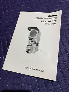 Nikon V-10 Profile Projector instructions