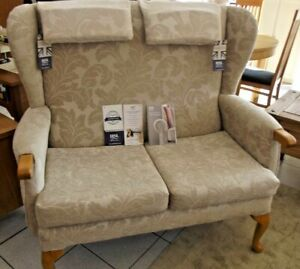 HSL HIGH BACK COTTAGE SOFA, WINGBACK LEGGED SOFA NEW WITH TAGS