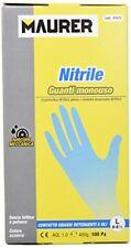 Guante Maurer desechable nitrilo talla 8 L caja 100
