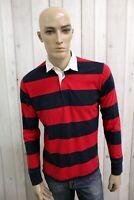 WOOLRICH Uomo Taglia S Maglia Cotone Casual Maglietta T-Shirt Polo Manica Lunga
