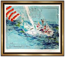 LeRoy Neiman Original Color Serigraph Nantucket Sailing Hand Signed Art Painting