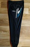 Adidas 90's Vintage Mens Track Pants Trousers Black Hype Training