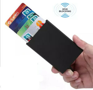 Slim RFID Card Holders - Smart Minimalist NFC Blocking Pop Up Wallets