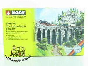 NOCH 58665 - H0 Quarrystone Viaduct / Viaducto de piedra de cantera curva  (M)