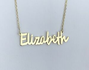 Personalised Cursive Handwritten Name Necklace ,18K Gold Plated Silver,HANDMADE