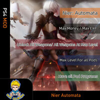 Nier: Automata (PS4 Mod)- Max Money/EXP/Level/Unlock all Weapons and Pod