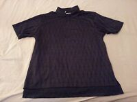 Mens adidas Golf Polo Shirt L Large Black Athletic