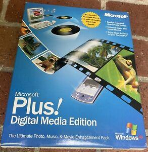 Microsoft Plus Digital Media Edition New Sealed NOS