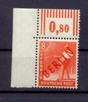 Berlin 23 WOR Rotaufdruck Oberrandstück postfrisch (rs109)