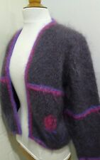 Ladies Hand Knit Open Front Cardigan Size Small
