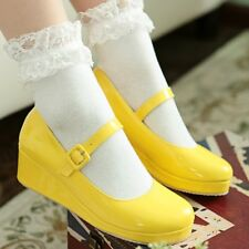 Mary Jane Platform Wedge Ankle Strap Lolita Ladies Shoes Party Autumn Size New