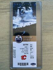 2010 Edmonton Oilers vs Flames Official Ticket Stub 10/7 Eberle Hall debut game!
