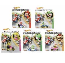 Hot wheels Premium *Mario Kart set of 5 ~ Mario *Luigi *Yoshi *Peach *Bowser New