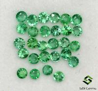 0.95 Cts Natural Emerald Round Cut 2 mm Lot 27 Pcs Calibrated Loose Gemstones
