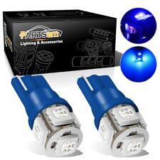 2x 5-5050-SMD 12000K Blue 194 T10 2825 168 Parking Running Light LED Bulb Set