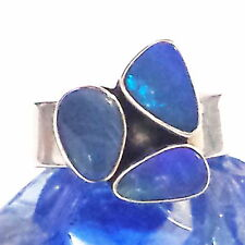 OPAL Ring 925 Silber Silver Gothic
