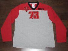 ROOTS ATHLETICS Sweatshirt V-Neck Men Large L Gray Red Felt Lettering 73 Canada