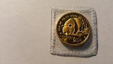 1987 S CHINA 25YN 1/4oz GOLD PANDA - .999 - BEAUTIFUL COIN! MINT SEALED