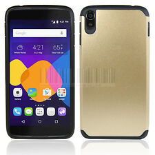 """Armor Shockproof Rubber Hard Hybrid Case Cover For Alcatel One Touch Idol 3 5.5"""""""