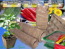 Δ Anzuchttöpfe, biologisch abbaubar Anzuchtschale,Pflanztöpfe Zimmer Gewächshaus