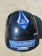 Worth W604991 Kids Baseball/Softball Batting Helmet Blue Low Profile scuffed