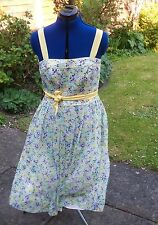"""BNWT NEW Monsoon """"Lottie"""" 1950's style pretty spotted size 12 polyester sundress"""