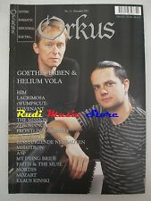 ORKUS MAGAZINE 11/2001 Goethes Erben & Helium Vola Lacrimosa Covenant Him *No cd