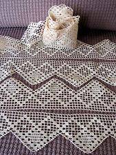 DENTELLE  ANCIENNE  Festonnée  Coton Ecru  Grand Métrage 5,04 Mètres sur 8,5 cm