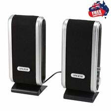 Portable Usb Multimedia Stereo Speakers System For Pc Laptop Computer Desktop Gv