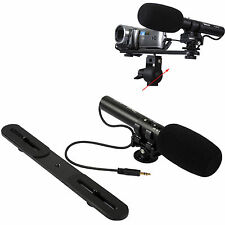 Stereo Mikrofon MIC Microphone Blitzschiene für Digital Kamera Video Camcorder