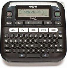 Brother P-touch D210 Desktop Beschriftungsgerät Schwarz 14 Schriftarten NEU OVP