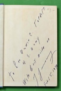 IGOR SIKORSKY, SIGNED TO GENERAL ORWIN C. TALBOTT, THE STORY OF THE WINGED-S