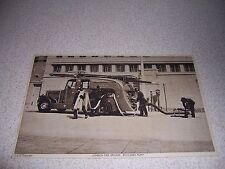 1930s ENCLOSED PUMP TRUCK LONDON FIRE BRIGADE UK. ANTIQUE POSTCARD