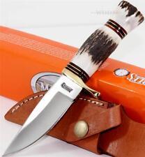 Marbles Knives Small Hunter Genuine Stag Bone Skinning Hunting Knife w/Sheath