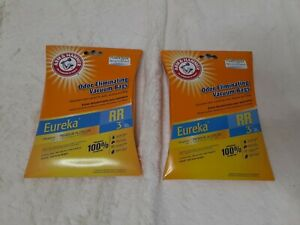 2 Eureka RR Vacuum Cleaner 3 Bags Arm & Hammer Odor Eliminating 1 bag missing