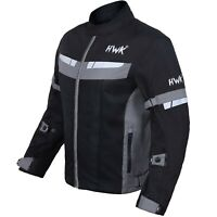 HWK Mesh Motorcycle Jacket Riding Air Motorbike CE Armored Breathable