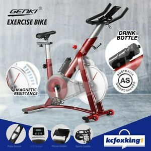 Genki Stationary Exercise Bike Home Gym Magnetic Resistance Fitness Spin Bike